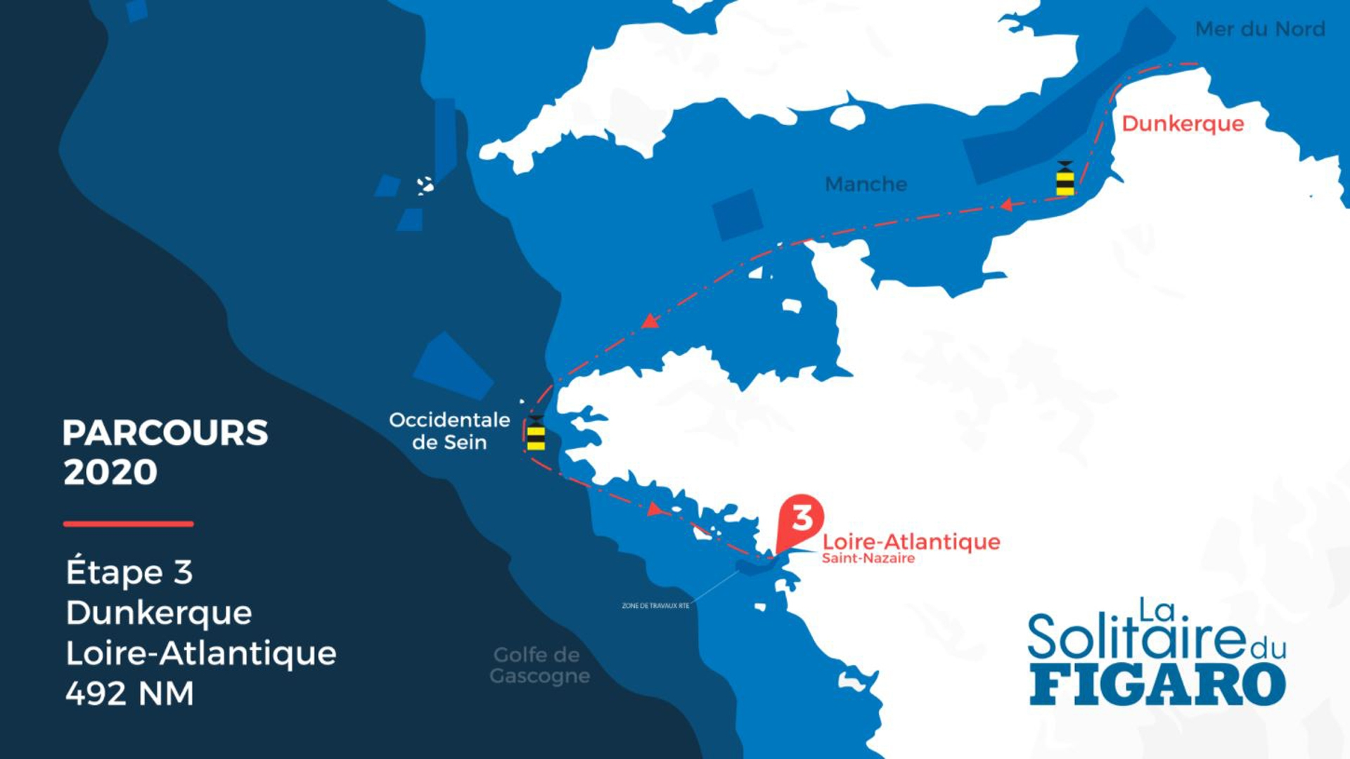 La Solitaire du Figaro - Stage 3 race route